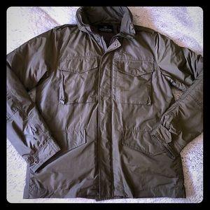 Scotch & Soda bomber jacket with hidden hood.